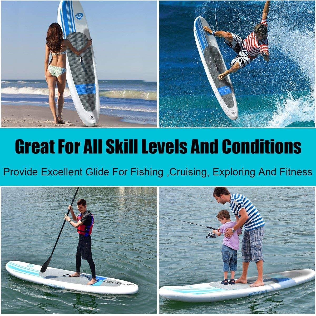 Goplus 10' Inflatable Stand Up Paddle Board 2