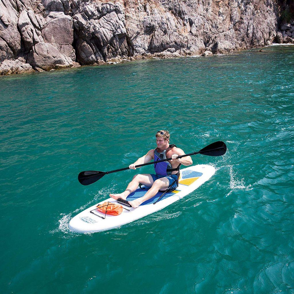 [FAST REVIEW] HydroForce White Cap Inflatable Stand Up Paddle board - image in-action-1024x1024 on https://supboardgear.com