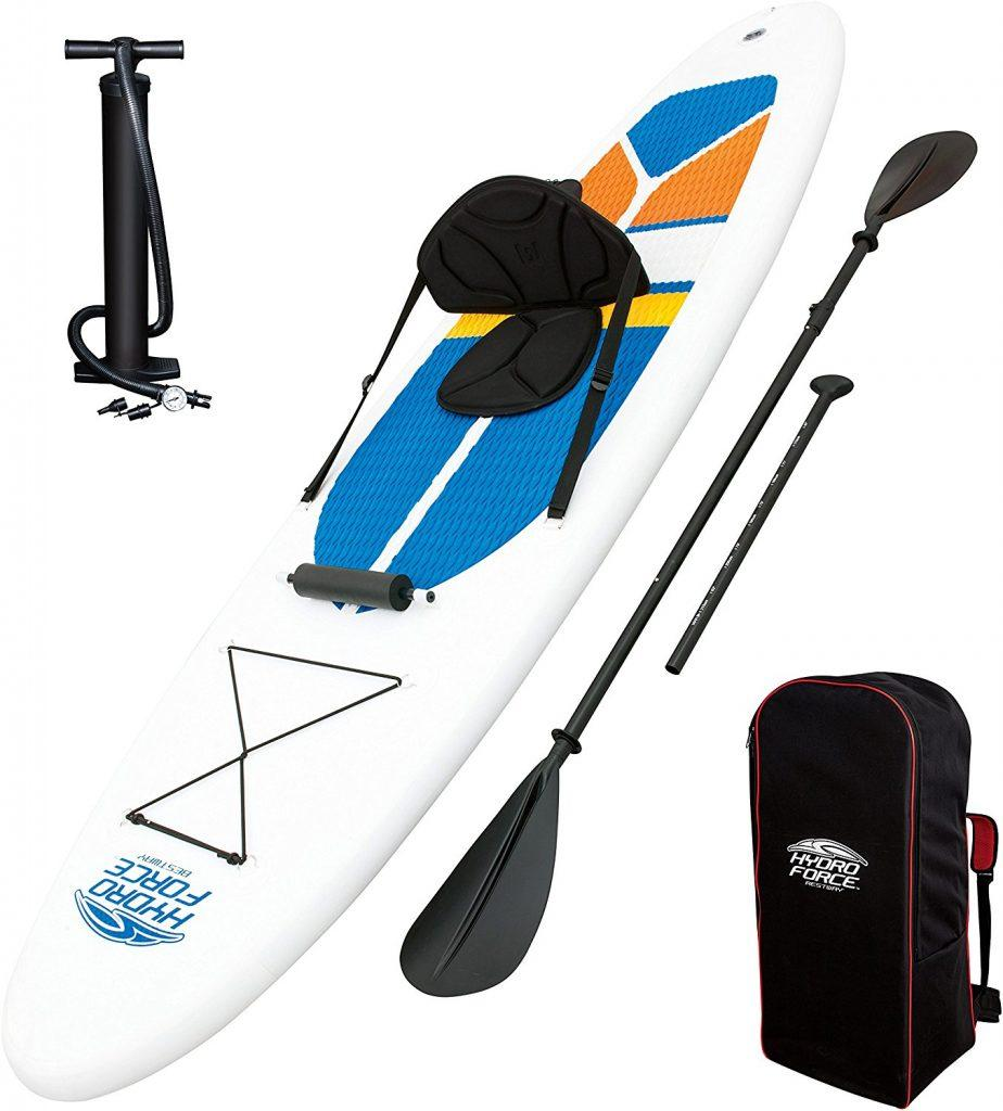 [FAST REVIEW] HydroForce White Cap Inflatable Stand Up Paddle board - image package-924x1024 on https://supboardgear.com