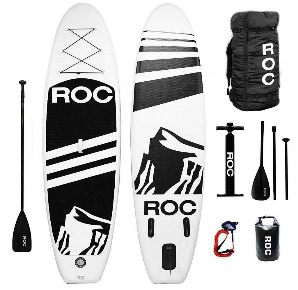 Roc 10'5 Inflatable Stand Up Paddle Board review - image roc-pak-1024x995 on https://supboardgear.com