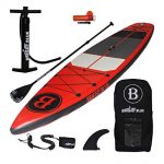BRIGHT BLUE Enhanced Inflatable Stand Up Paddleboard