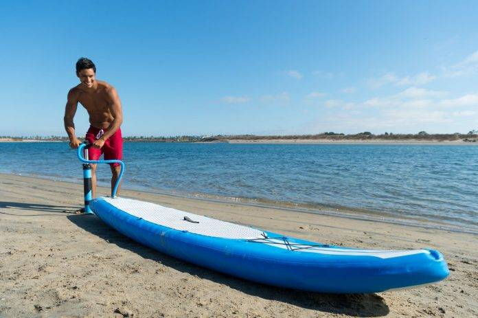 BRIGHT BLUE Enhanced Stand Up Paddleboard