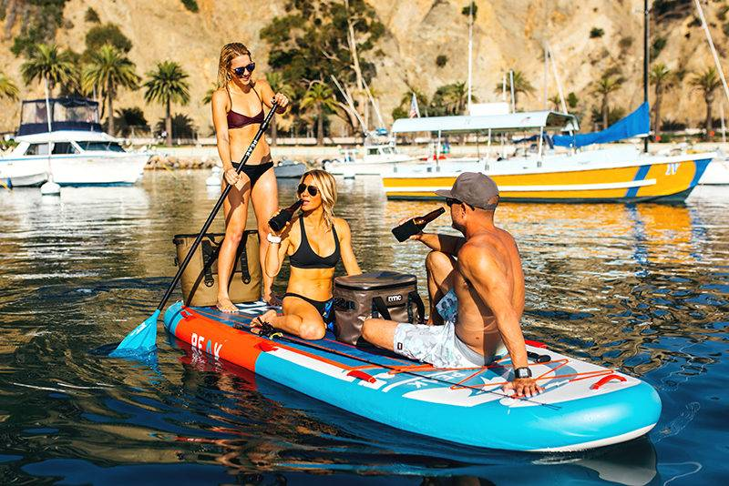 Great 12' Multi-Person Stand Up Paddle Board comes from Peak