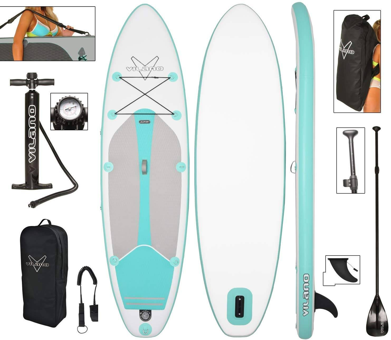 Vilano Journey Inflatable Stand Up Paddle Board Kit - image Vilano-Journey-Inflatable-Stand-Up-Paddle-Board-Kit on https://supboardgear.com