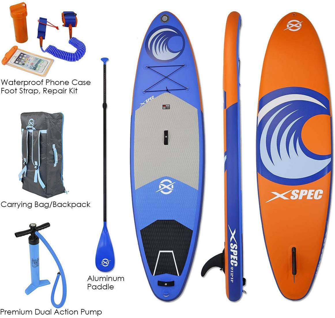 Xspec Inflatable Standup Paddle Board - image Xspec-Inflatable-Standup-Paddle-Board on https://supboardgear.com