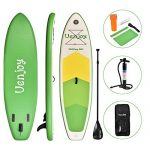 Non-slip Inflatable SUP comes from Uenjoy - image uenjoy-10-inflatable-stand-up-paddle-board-6-inches-thick-non-slip-deck-150x150 on https://supboardgear.com