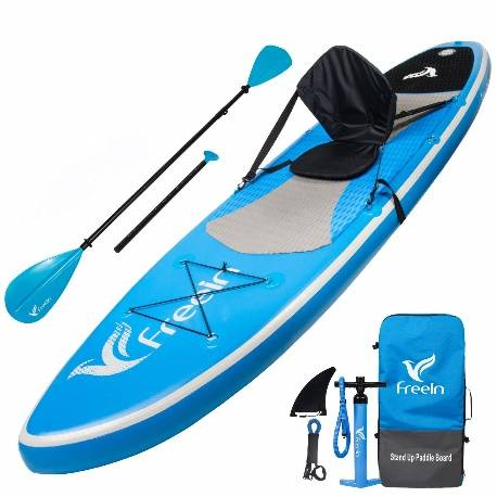 Freein Stand Up Paddle Board Inflatable SUP Long with Kayak Review - image on https://supboardgear.com