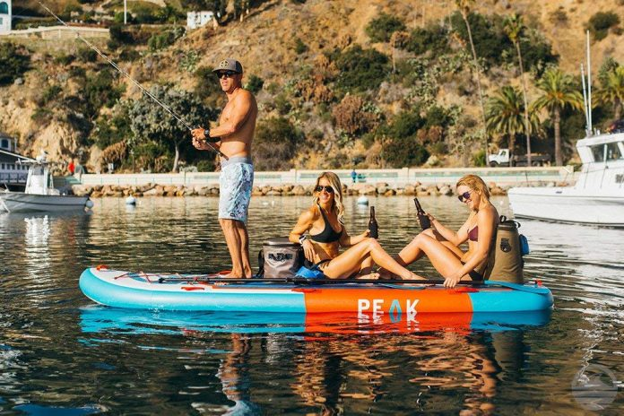 Peak 12' Titan Royal Blue Multi Person Inflatable Stand Up Paddle Board