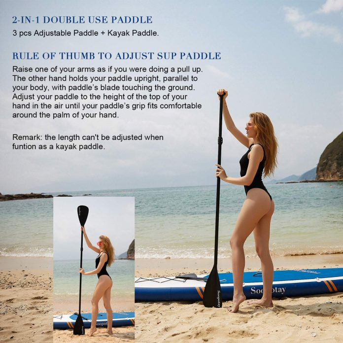 Soopotay Stand up Inflatable SUP Paddle Board – Adventurous and playful option for riders