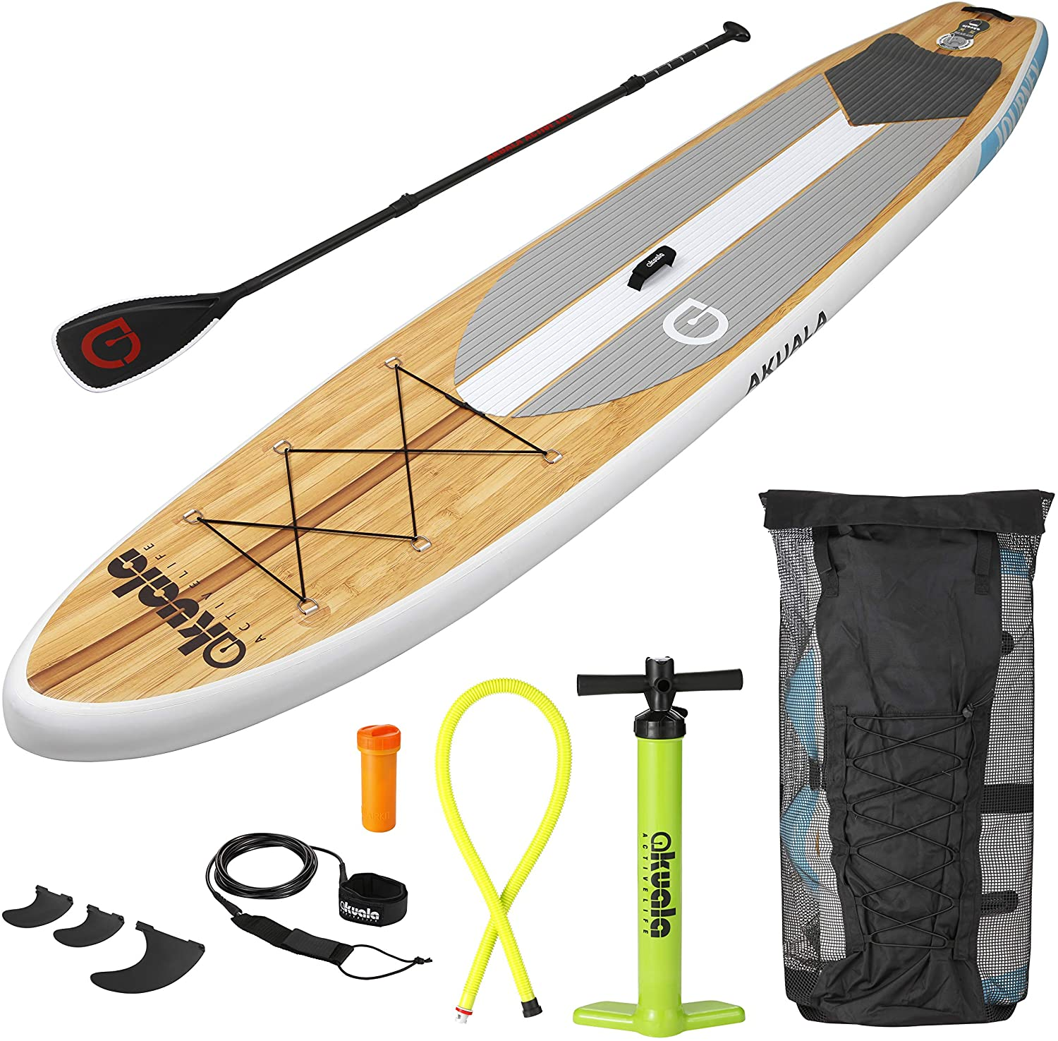 AKUALA Inflatable SUP Board All-Around Stand Up Paddle Package