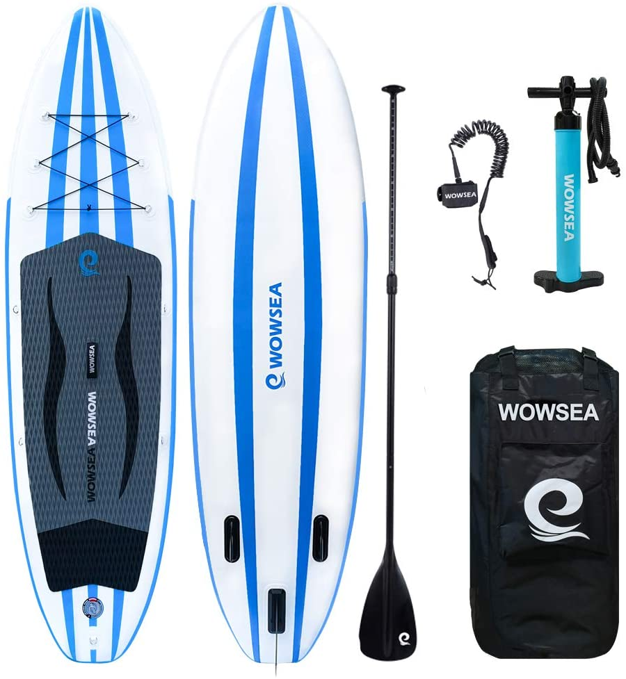 WOWSEA Inflatable Stand Up Paddle Board-Wide and stable