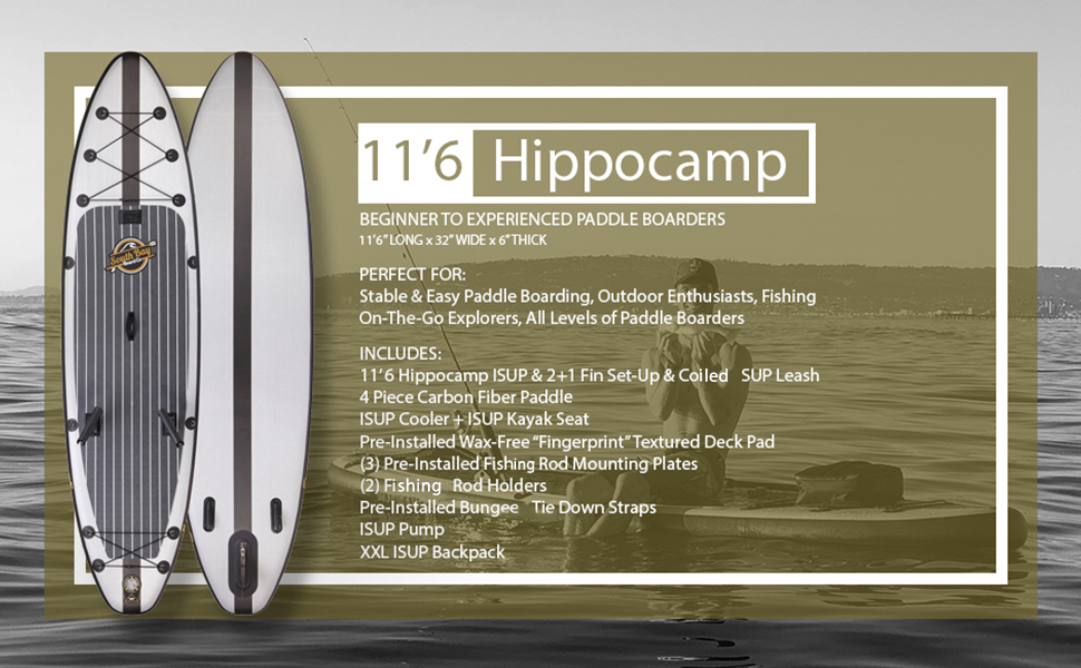 Hippocamp Inflatable Fishing Paddle Board