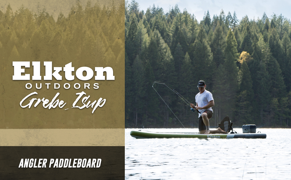 Elkton Outdoors Grebe Inflatable Fishing Stand-Up Paddleboard