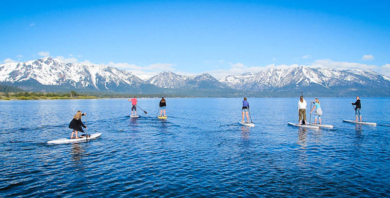 Paddle Board at Sand Harbor Lake Tahoe
